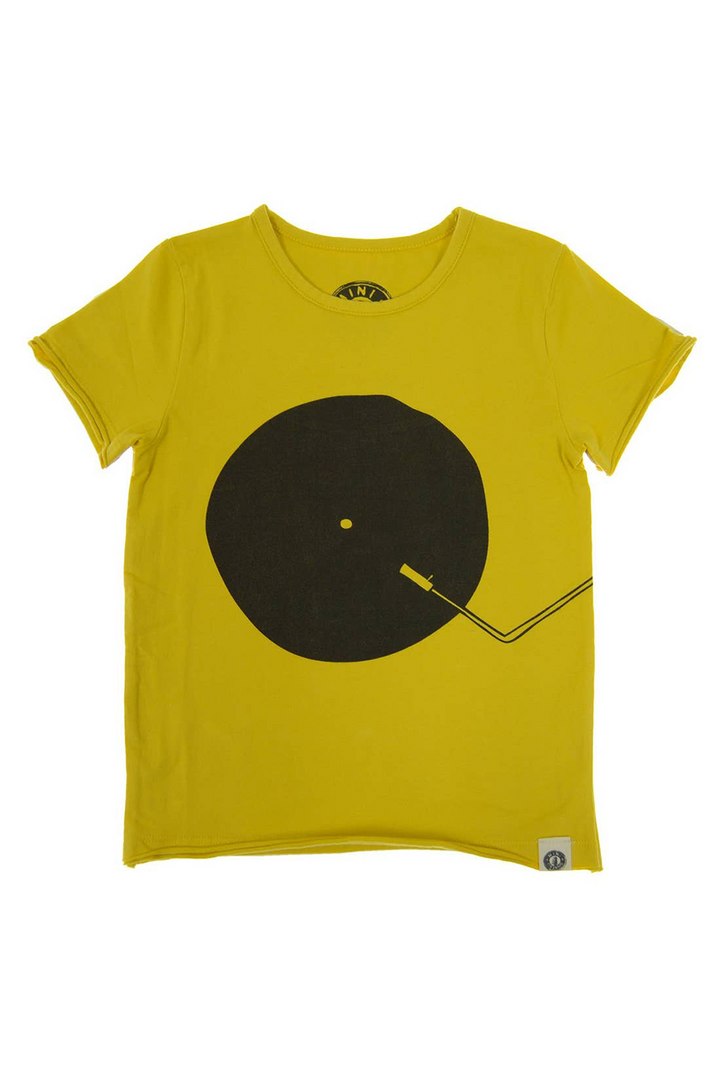 Vinyl DJ Kids Tee | Yellow