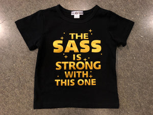 Sass Is Strong Tee | Black - West of Camden