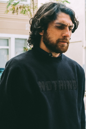 Nothing Crewneck Sweatshirt | Black/Black - West of Camden