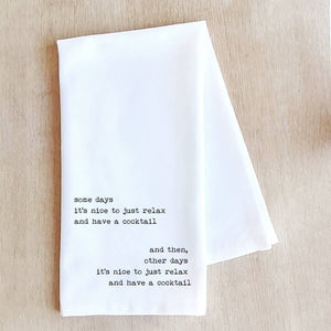 Some Days Tea Towel | White - West of Camden