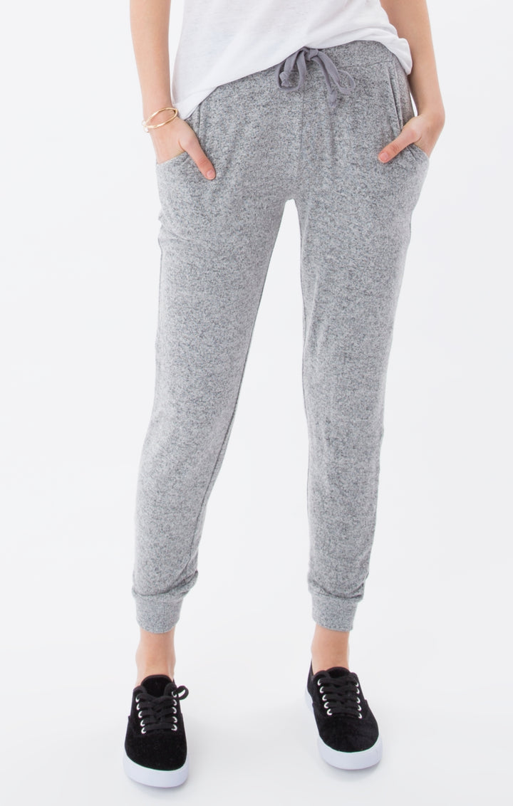 Marled Jogger | Heather Grey - West of Camden