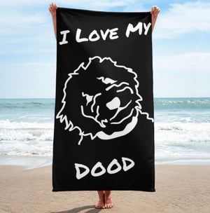 Goldendoodle Black Beach Towel - Zabbow Goldendoodle Pet Products