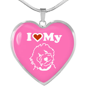 Goldendoodle Heart Necklace - Zabbow Goldendoodle Pet Products