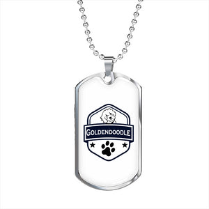 Goldendoodle Dog Tag and Chain - Zabbow Goldendoodle Pet Products
