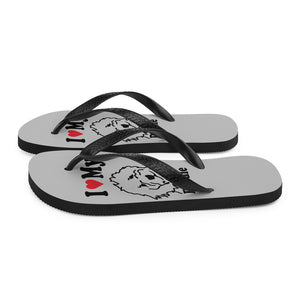 Goldendoodle Grey Flip-Flops - Zabbow Goldendoodle Pet Products