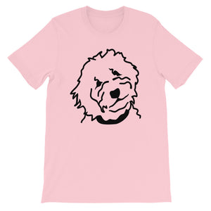 Goldendoodle Short-Sleeve Unisex T-Shirt (Pink) - Zabbow Goldendoodle Pet Products