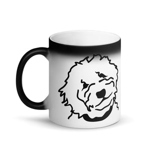 Goldendoodle Matte Black Magic Coffee Mug - Zabbow Goldendoodle Pet Products