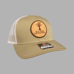 Dead Oak Leather Patch Hat (Khaki/White)
