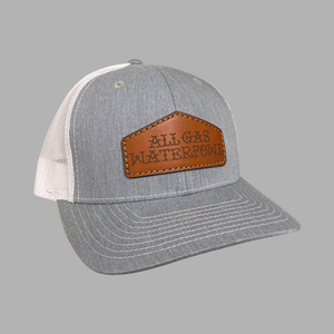 AGW Leather Patch Hat (Heather/White)