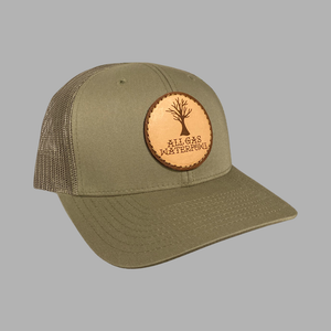 Dead Oak Leather Patch Hat (Loden)