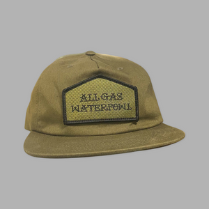 AGW Unstructured Flat Bill Embroidered Patch Hat (Loden)