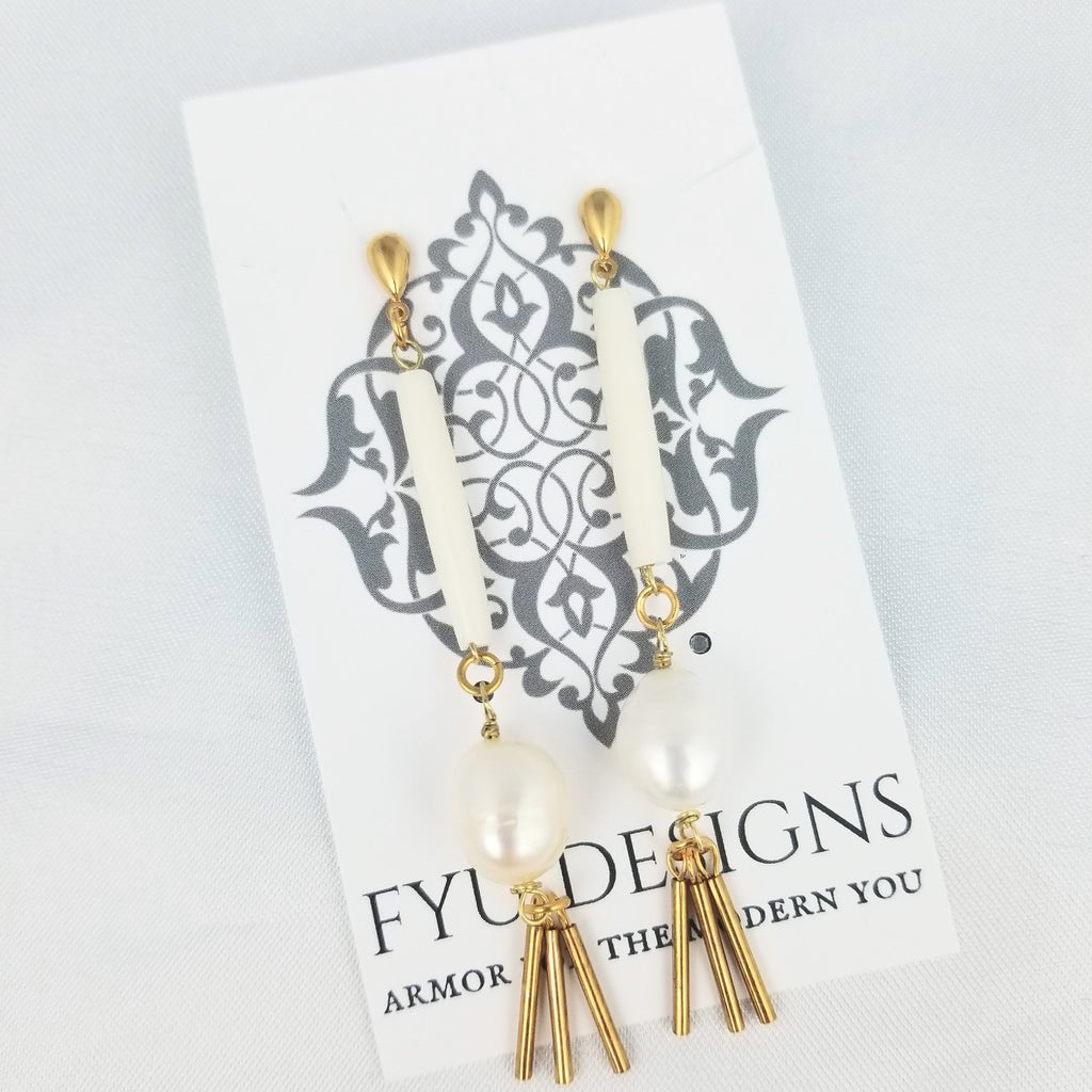 The Aura Earrings | Gold - FYU DESIGNS