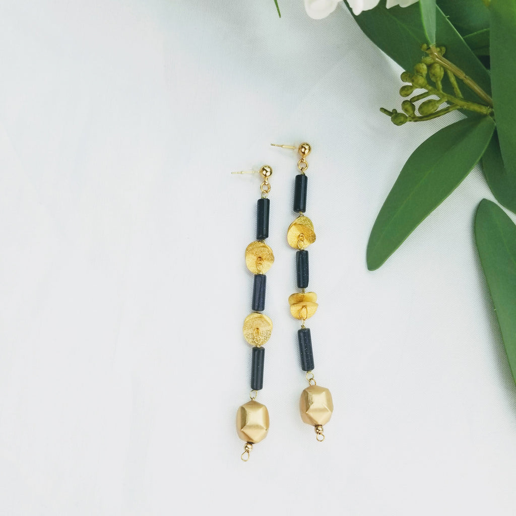 The Timeline Earrings | Gold - FYU DESIGNS