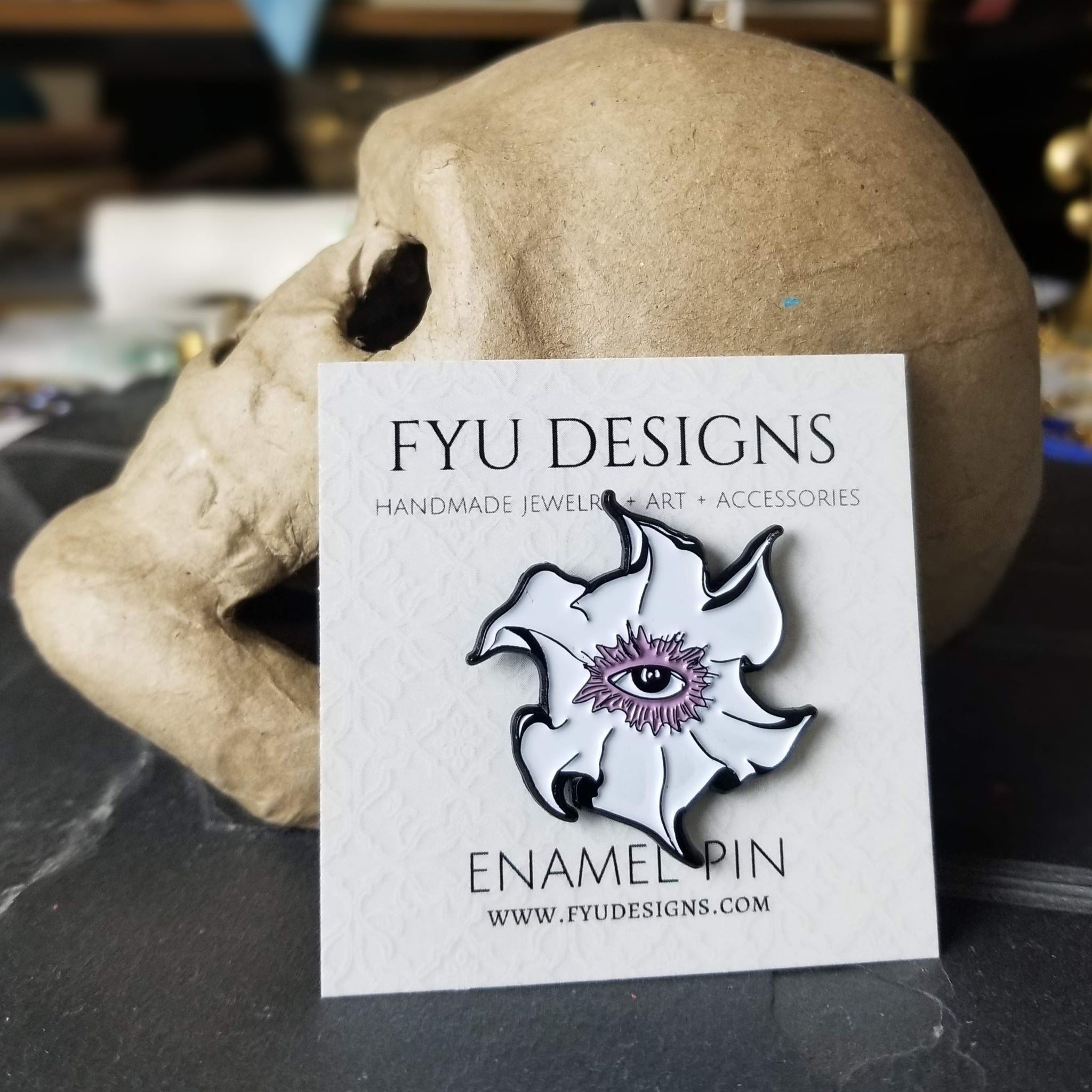 Visions of Delirium Enamel Pin | Black - FYU DESIGNS