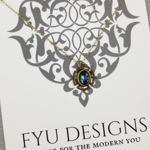 The Below The Surface Necklace | Gold - FYU DESIGNS