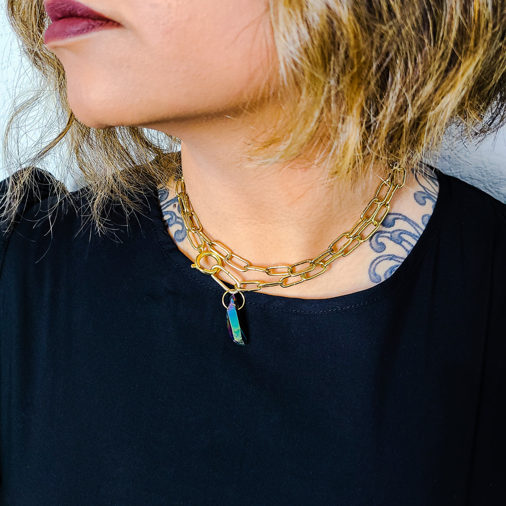 The Crossroads Necklace | Gold - FYU DESIGNS