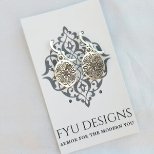 The Blossom Earrings | Silver - FYU DESIGNS