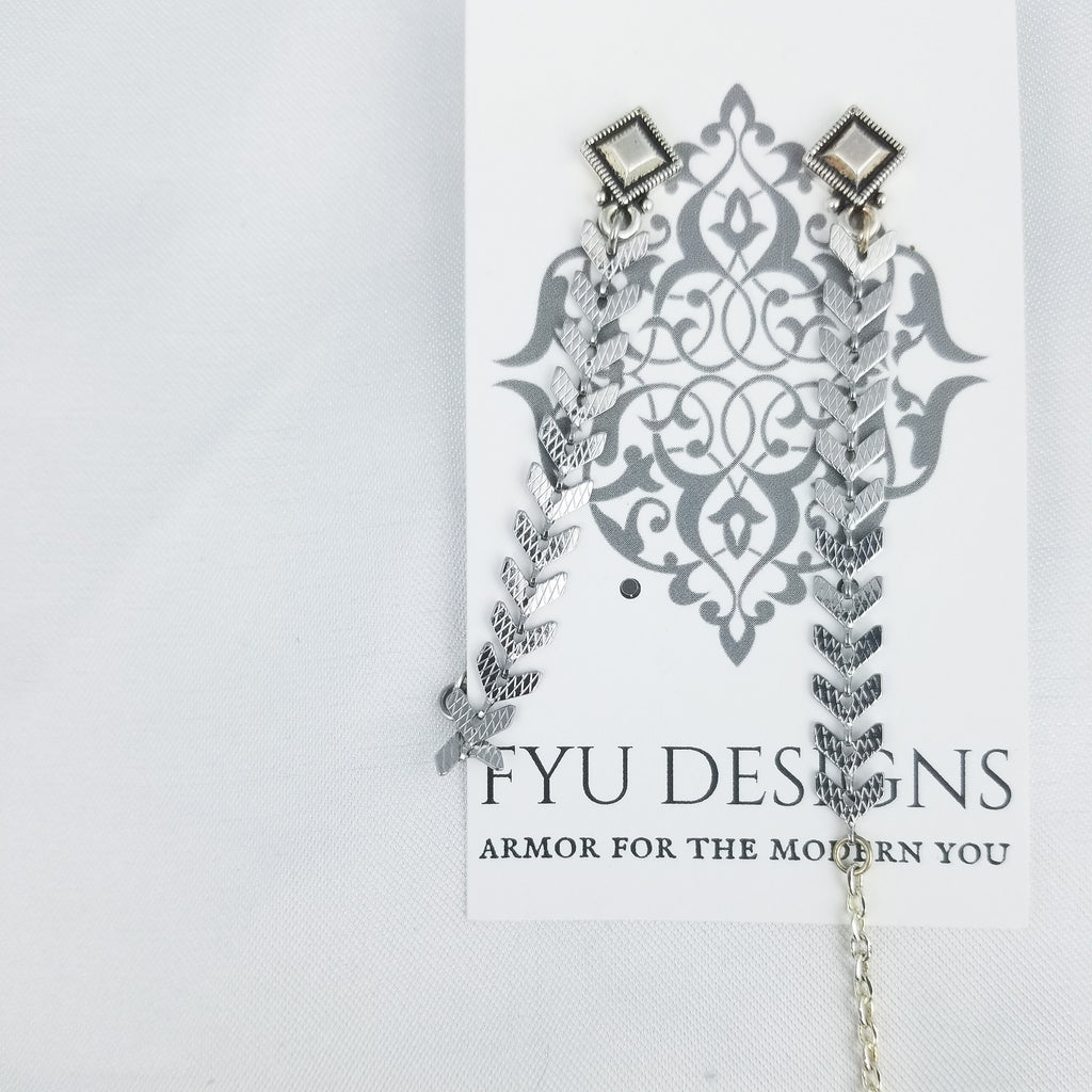 The Directional Earrings | Silver - FYU DESIGNS