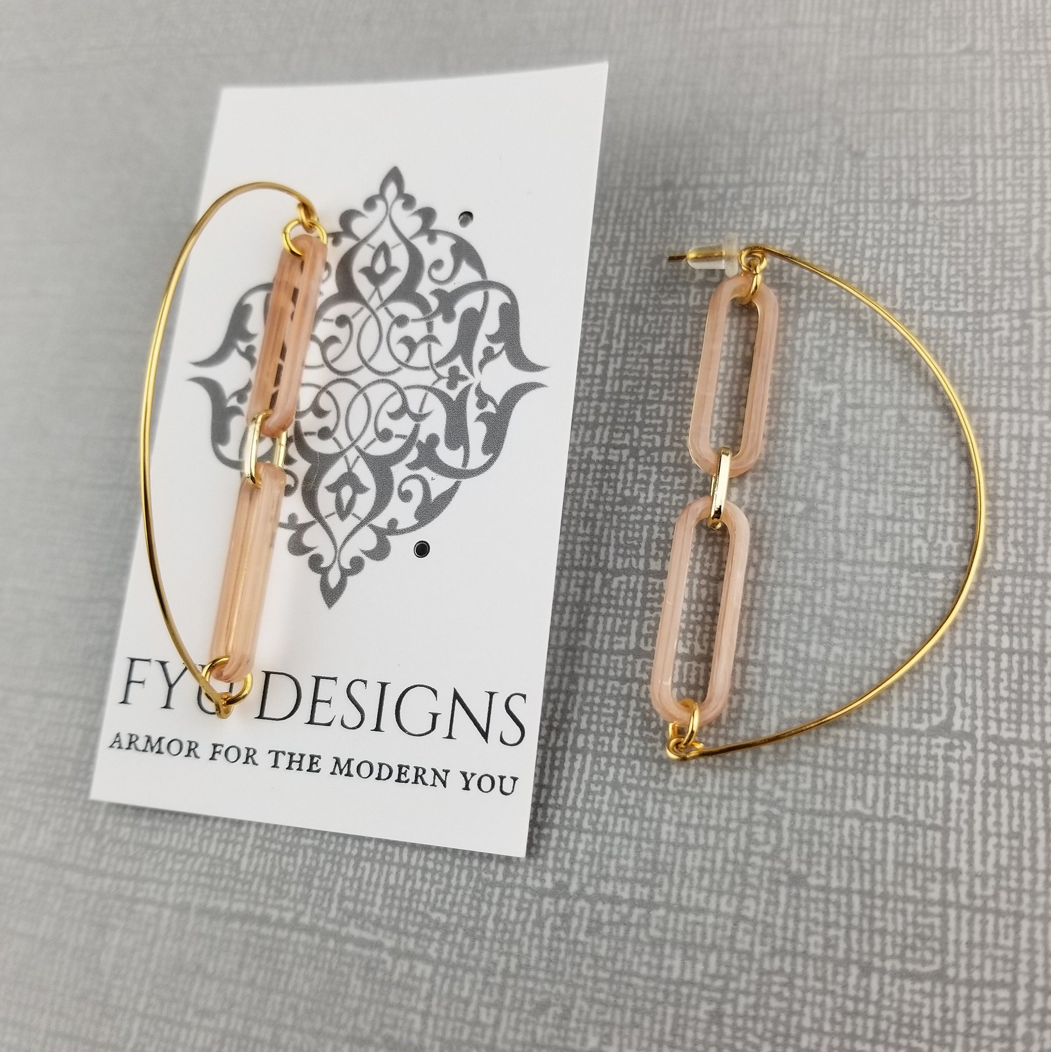 The Moon Child Earrings | Gold - FYU DESIGNS