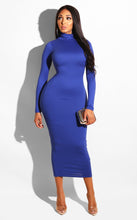 Load image into Gallery viewer, Amazon BORIFLORS Women's Basic Long Sleeve Turtleneck Bodycon Party Long Pencil Dress