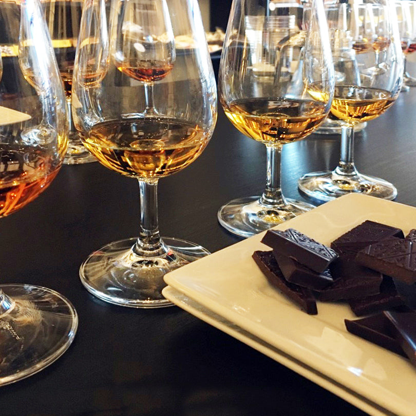 Whisky and chocolate tasting event