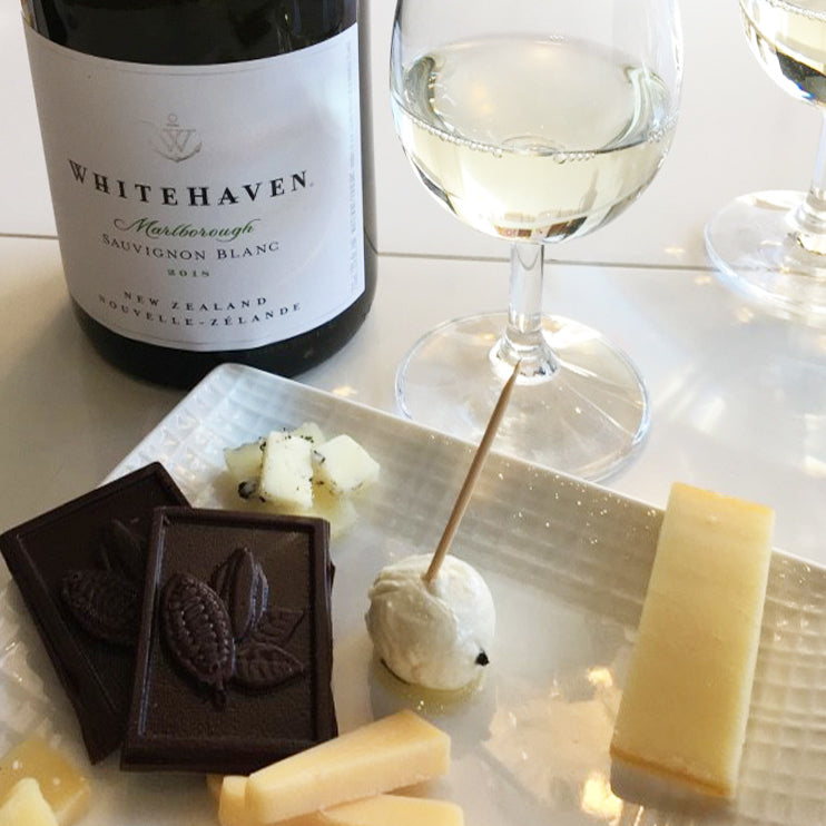 Chocolate, cheese and wine tasting event