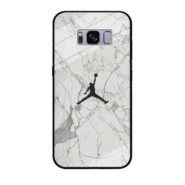 Air Jordan Marble Soft Black Samsung Galaxy S8 Case