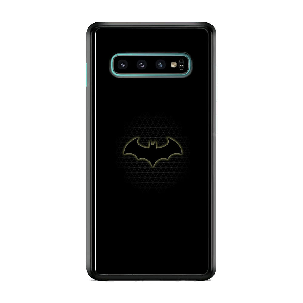 Batman Logo Simple Black Samsung Galaxy S10 Plus Case