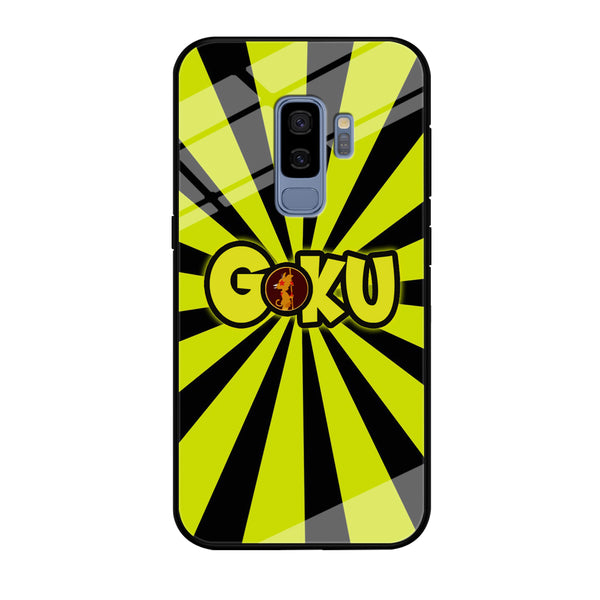Goku Word Stripe Black Yellow Samsung Galaxy S9 Plus Case