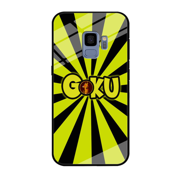Goku Word Stripe Black Yellow Samsung Galaxy S9 Case