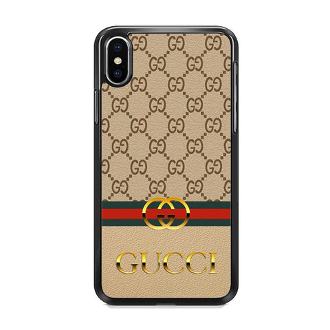 Gucci Gold Clasp iPhone XS Case