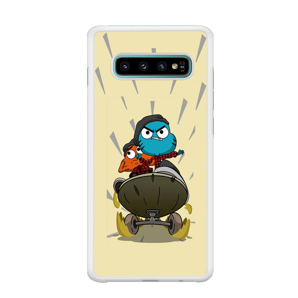 Gumall And Darwin Playing Skate Samsung Galaxy S10 Plus Case