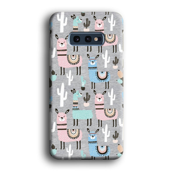 Ilama and Cactus Field Samsung Galaxy S10E Case