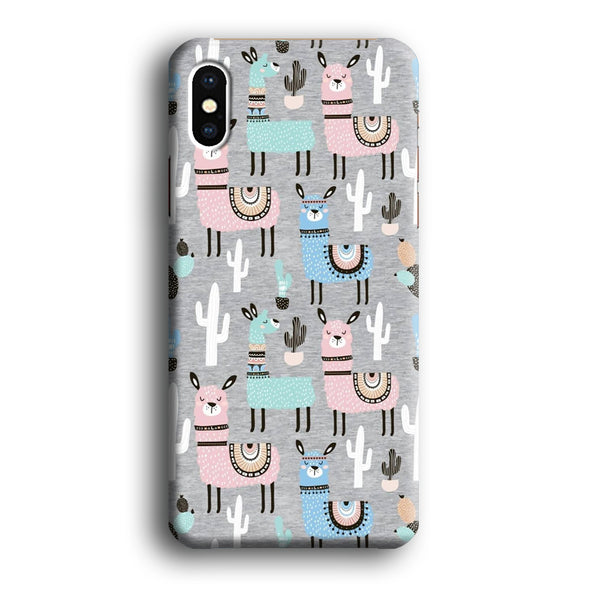 Ilama and Cactus Field iPhone XS MAX Case