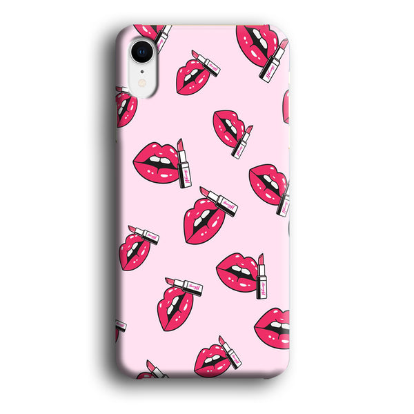 Lips Sparkle with Lipstick iPhone XR Case