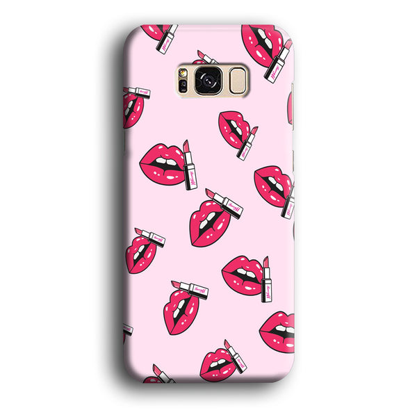 Lips Sparkle with Lipstick Samsung Galaxy S8 Case