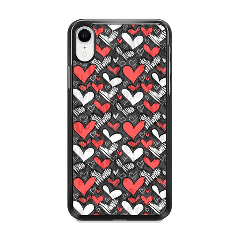 Love Chalk Writing iPhone XR Case