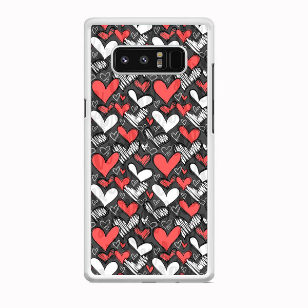 Love Chalk Writing Samsung Galaxy Note 8 Case