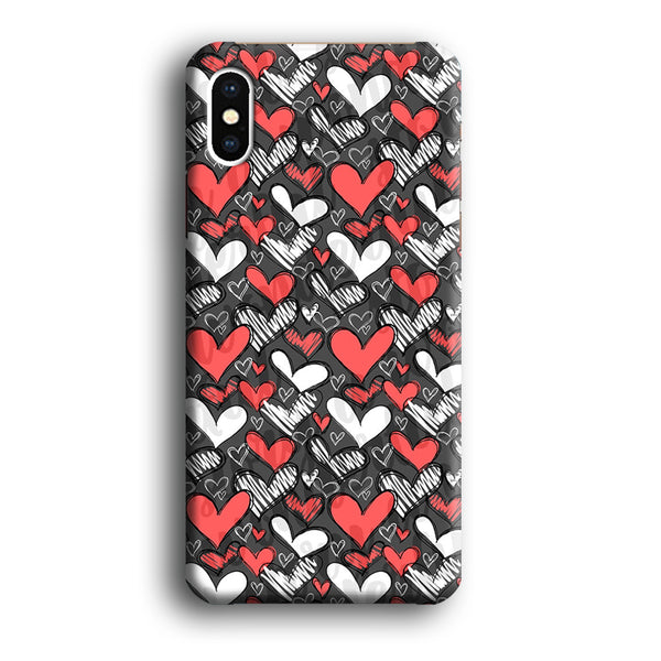 Love Chalk Writing iPhone X Case