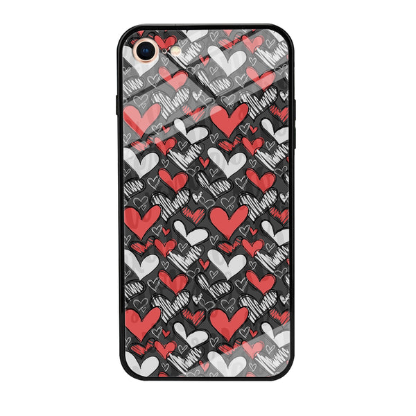 Love Chalk Writing iPhone 8 Case