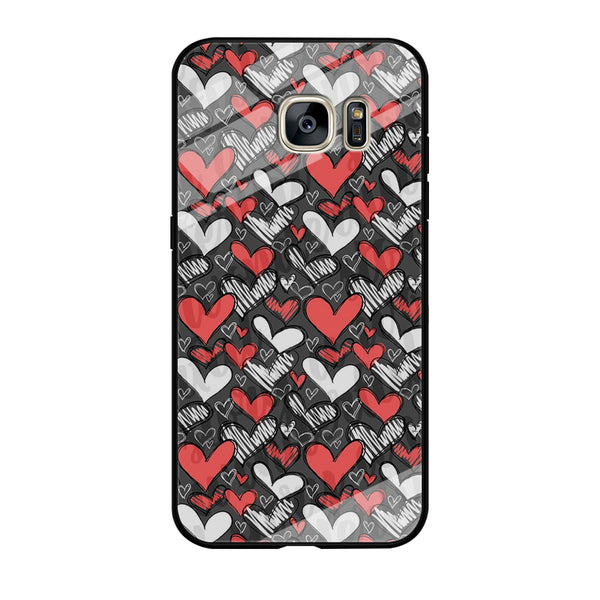 Love Chalk Writing Samsung Galaxy S7 Case