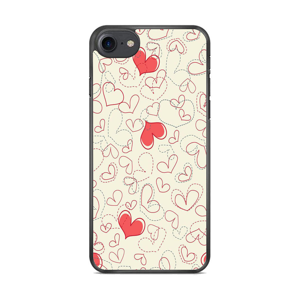 Love Dotted Line iPhone 8 Case