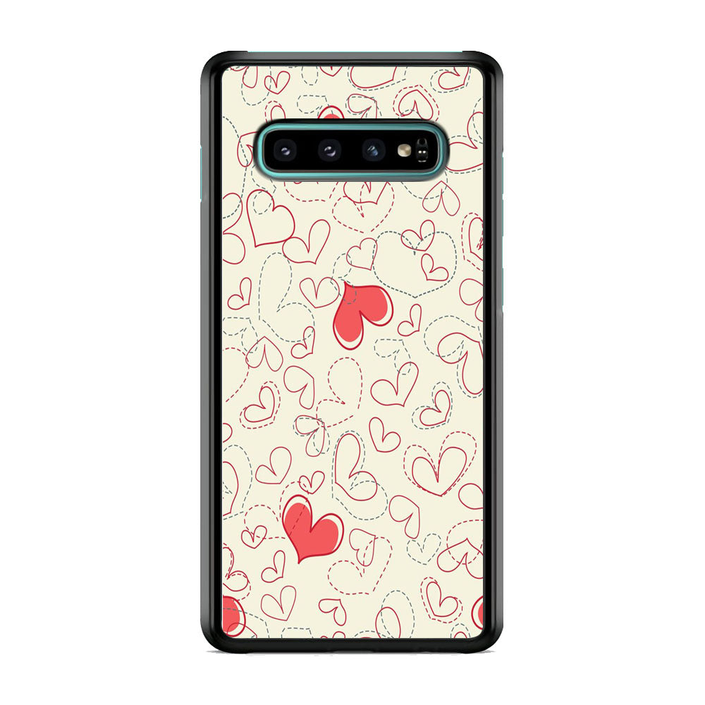 Love Dotted Line Samsung Galaxy S10 Case