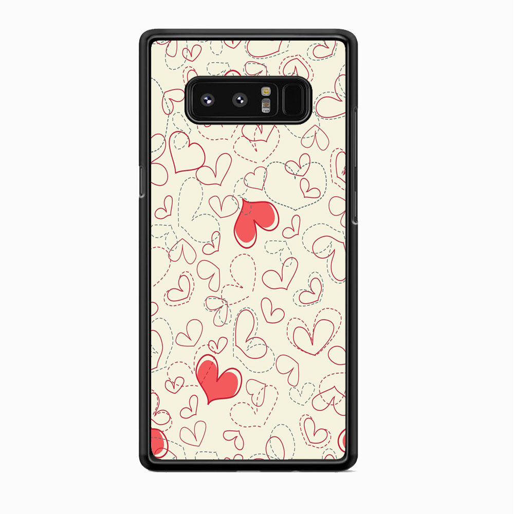 Love Dotted Line Samsung Galaxy Note 8 Case