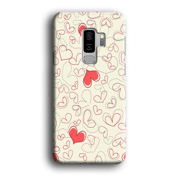 Love Dotted Line Samsung Galaxy S9 Plus Case