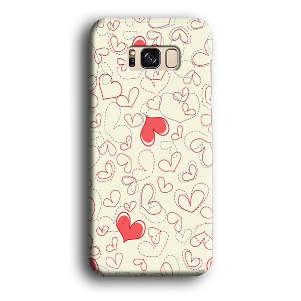 Love Dotted Line Samsung Galaxy S8 Case