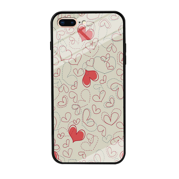 Love Dotted Line iPhone 7 Plus Case - carneyforia