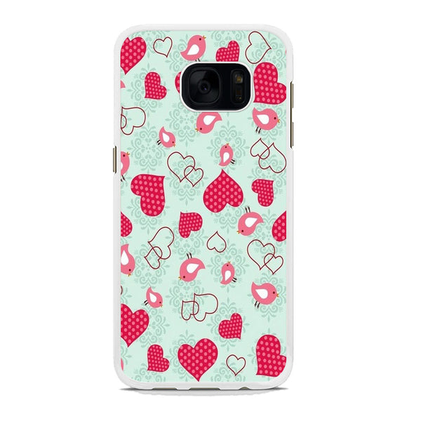 Love Polkadot and Bird Samsung Galaxy S7 Edge Case