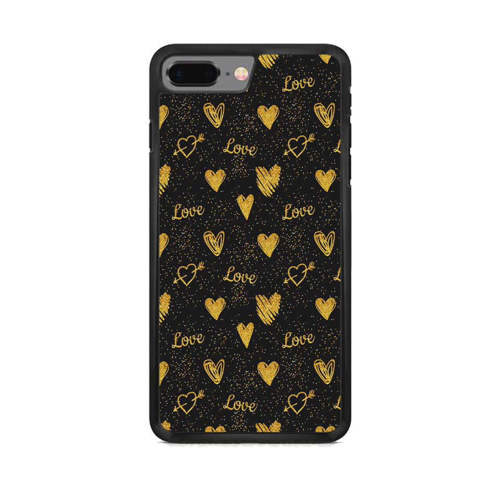 Love in Gold iPhone 8 Plus Case