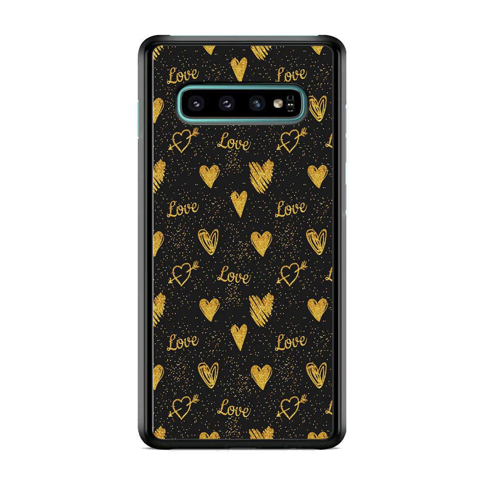 Love in Gold Samsung Galaxy S10 Plus Case